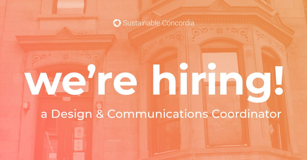 hiring design and communications coordinator